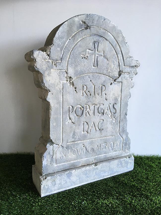 洋風墓石 (M-2) 撮影 ディスプレイ 置き物 石 墓石 墓標 墓地 十字架 雑貨 装飾 ハロウィン ホラー オブジェ 【送料無料】