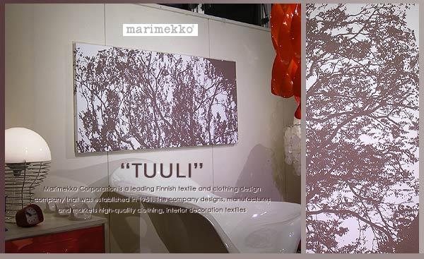 【marimekko (マリメッコ)】 ファブリックパネル ファブリックボード TUULI (BR) [ご注文サイズ:W140cm×H60cm] 北欧 ファブリック