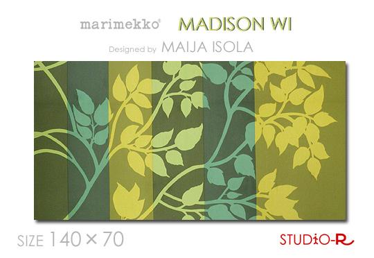ファブリックパネル ファブリックボード marimekko マリメッコ MADISON WI(GGR)マディソンウィ[SIZE:W140×H70cm]日本未発売!数量限定入荷しました。