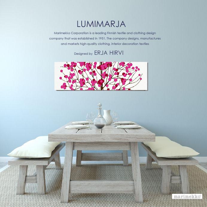 marimekko(マリメッコ) ファブリックパネル/ファブリックボード Lumimarja(RED)ルミマルヤ[SIZE:W130×H45cm]各サイズ選べます 北欧 ファブリック