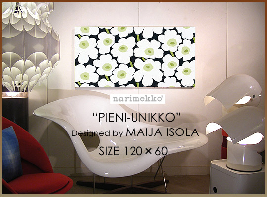 marimekko(マリメッコ)【ファブリックパネル ファブリックボード】PIENI-UNIKKO(BLK_2) [SIZE:W120×H60]各サイズ選べます 北欧 ファブリック