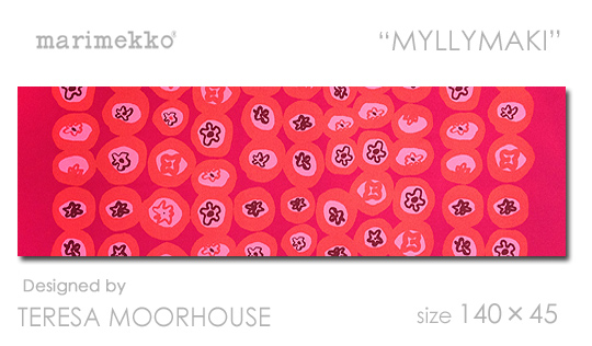 marimekko 【マリメッコ ファブリックパネル】 ファブリックボード MYLLYMAKI(RED) [ご注文サイズ:W140cm×H45cm]【北欧 ファブリック】
