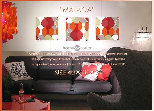 【ファブリックボード/ファブリックパネル】BORAS社/ボラスMALAGA(RED)[SIZE:W40cm×H40cm×3set]各サイズ選べます 北欧 ファブリック