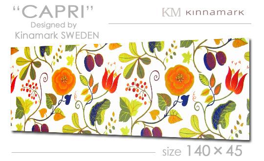 【ファブリックパネル ファブリックボード】 Kinamark(シナマーク) CAPRI [ご注文サイズ:W140cm×H45cm] 各サイズ選べます / 北欧 ファブリック