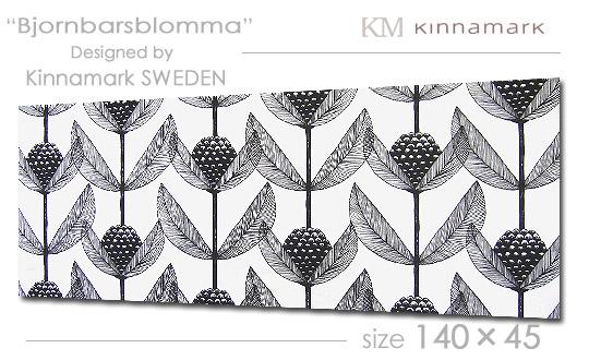 Kinamark(シナマーク) ファブリックパネル ファブリックボード Bjornbarsblomma[ご注文サイズ:W140cm×H45cm] 北欧 ファブリック