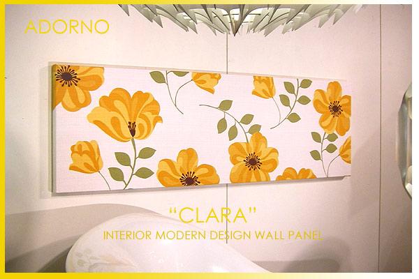 【ファブリックパネル ファブリックボード】 ADORNO社/アドルノ CLARA(YR)/クラーラ [SIZE:W140cm×H45cm] 各サイズ選べます 【北欧 ファブリック】