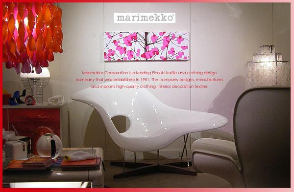 marimekko(マリメッコ) ファブリックパネル ファブリックボード Lumimarja(RED)[ご注文サイズ:W90cm×H30cm]【北欧 ファブリック】