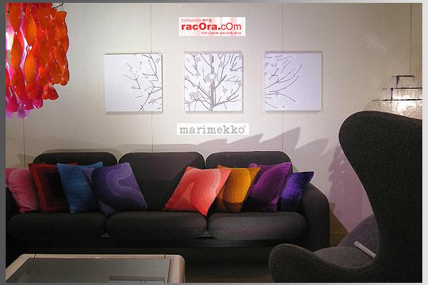 marimekko(マリメッコ) ファブリックパネル/ファブリックボード Lumimarja(wht)[ご注文サイズ:W40cm×H40cm×3set]北欧 ファブリック
