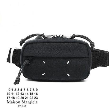 【定価53,900円(税込)】Maison Margiela メゾン マルジェラ コンパクトで絶妙な大きさが大人向き!クロスボディスタイルのキャンバス地クロスボディバッグ バック 鞄 ブラック マルタン 5S55UI0174 男女兼用 ユニセックス