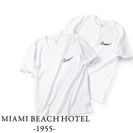 【定価10,120円(税込)】MIAMI BEACH HOTEL 1955 -マイアミ ビーチ ホテル- 肉厚でトロミ感のある着心地が堪らないプレミアムライン!ノンウォッシュデニムなどと相性の良いヨーロピアンな