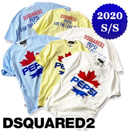 【定価39,600円(税込)】DSQUARED2×PEPSI-COLA ディースクエアード×ペプシコーラ 80年代のペプシ広告デザインが胸元を飾る!ラグジュアリーな大人カジュアルを演出!ブランドロゴ入りクルーネックコラボTシャツ 半袖 S78GD0041N FAT DAN FIT メンズ 00403