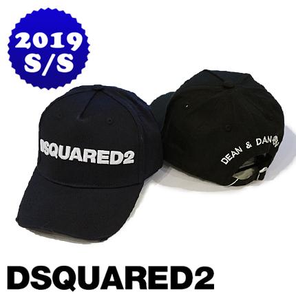 """【定価19,440円(税込)】 DSQUARED2 ディースクエアード 圧巻の存在感を放つロゴ刺繍デザイン!コーデをシックに纏めてくれる、アク足しに最適なベースボールキャップ 帽子 デザイナー""""DEAN&DAN""""刺繍 S82BC0028 ブラック 男女兼用"""