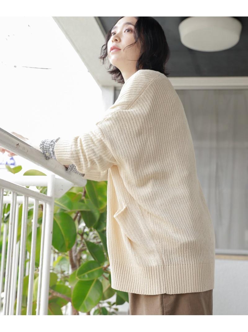 studio CLIP レディース ニット スタディオクリップ 7Gキナガシカーディガン カーディガン イエロー 売れ筋 買取 Fashion ホワイト 送料無料 ブラウン Rakuten