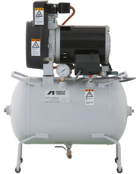 【アネスト岩田】 無給油式タンクマウント 圧力開閉器式 三相200v 1/4馬力 TFP02C-10M