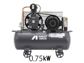 【アネスト岩田】 給油式タンクマウント 圧力開閉器式 三相200v(60Hz) 1馬力 TLPCO7BF-10 M6