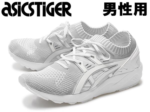 アシックスタイガー ゲル カヤノ トレイナー ニット 男性用 ASICS TIGER GEL-KAYANO H705N メンズ スニーカー グレーxホワイト(01-13280823)