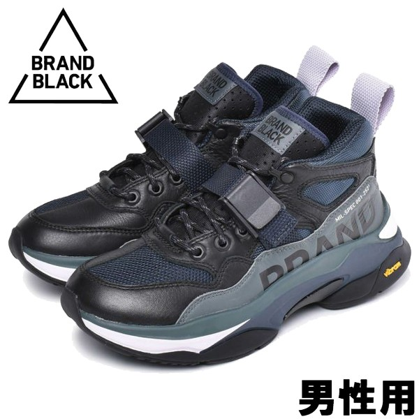 ブランドブラック サガ ミル スペック 男性用 BRAND BLACK SAGA MIL-SPEC 478BB メンズ スニーカー ブラックxネイビー (01-13560061)