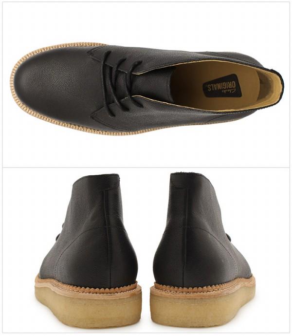 克拉克CLARKS bekkarihirubutsuburakkureza UK规格(26112660 BECKERY HILL)kurakusu人(男性用)本皮革甜点长筒靴鞋鞋天然皮革(10133200)