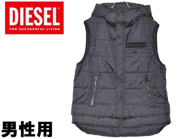 ディーゼル W-SUN-REV-SLESS 男性用 DIESEL W-SUN-REV-SLESS 00SNKZ 0HATP メンズ 中綿ベスト (23160885)