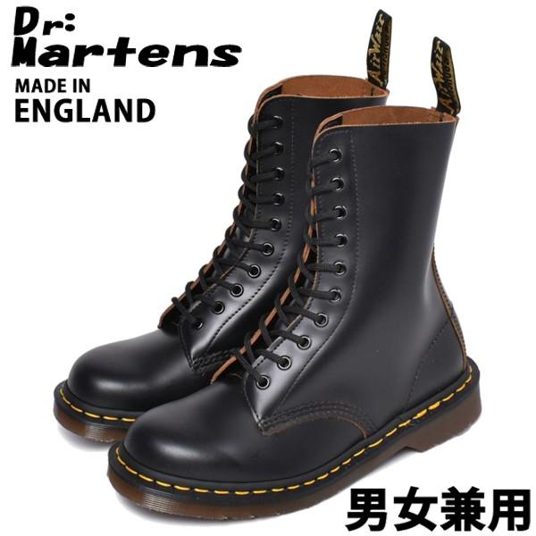 ドクターマーチン 10ホール アイレット ブーツ イギリス製 男性用兼女性用 DR.MARTENS 10HOLE BOOT R12309001 メンズ レディース ブーツ (10330004)
