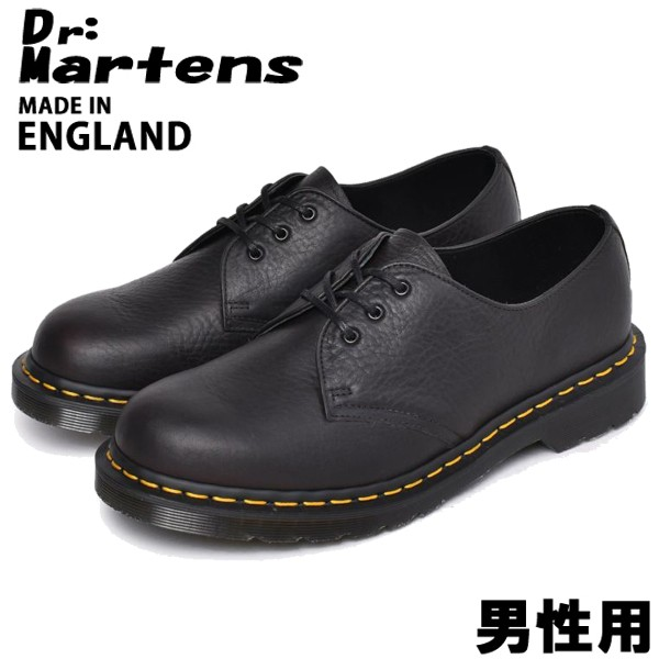 ドクターマーチン 1461 アバンドン 3ホール シューズ イギリス製 男性用 DR.MARTENS ABANDON 3EYE メンズ カジュアルシューズ ブラック (01-10330244)