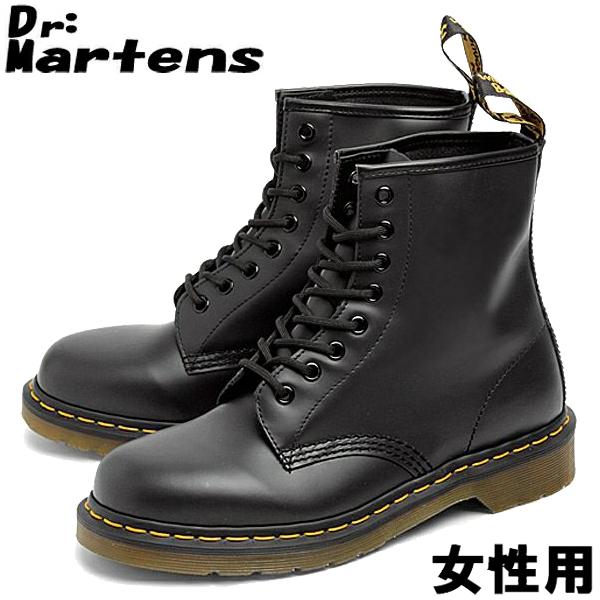 ドクターマーチン 8ホール ブーツ 1460 W DR.MARTENS 8HOLE BOOTS 1460 W レディース(女性用) ブラック(01-10335002)