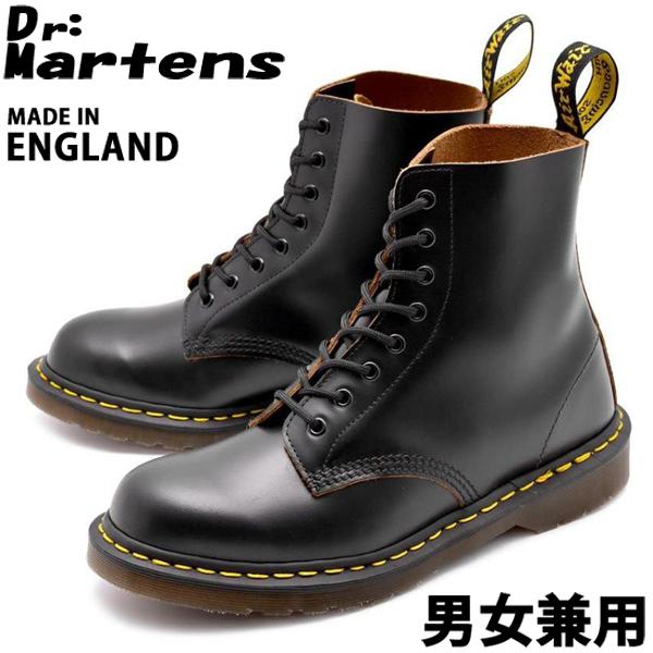 ドクターマーチン ヴィンテージ 8ホールブーツ イギリス製 男性用兼女性用 DR.MARTENS VINTAGE 8EYE BOOT 12308001 メンズ レディース ブーツ (10335069)