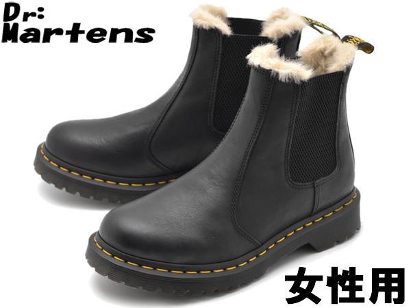 ドクターマーチン 2976 レオノーレ ファーライン チェルシーブーツ 女性用 DR.MARTENS LEONORE FUR LINED CHELSEA BOOT R 21045001 レディース ブーツ (10335225)