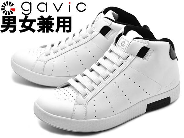 ガビックライフスタイル ゼウス ミッド 男性用兼女性用 GAVIC ZEUS MID GVC011 メンズ レディース スニーカー ホワイトxブラック (01-18330111)