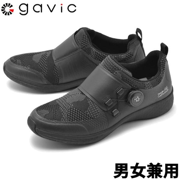 ガビックライフスタイル アドロア 男性用兼女性用 GAVIC LIFE STYLE ADROA GVC012 メンズ レディース スニーカー ブラックxブラック (01-18330125)