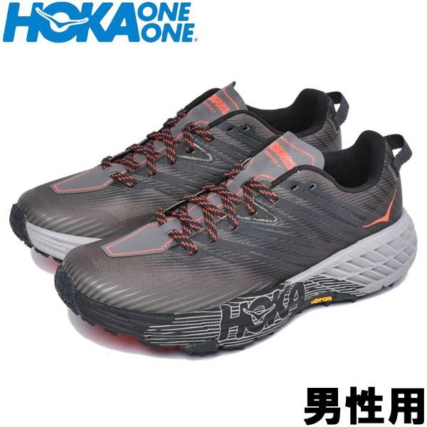 ホカ オネオネ スピードゴート 4 男性用 HOKA ONEONE SPEEDGOAT 4 1106525 メンズ スニーカー ダークグレーxアンスラサイト (01-12990500)