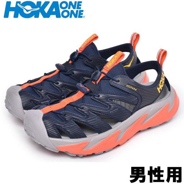 ホカオネオネ M ホパラ 男性用 HOKA ONE ONE M HOPARA 1106534 メンズ スポーツサンダル ブラックxマンダリンレッド (01-12994201)