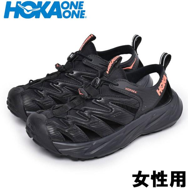 ホカオネオネ W ホパラ 女性用 HOKA ONE ONE W HOPARA 1106535 レディース スポーツサンダル ブラックxコーラル (01-12997000)