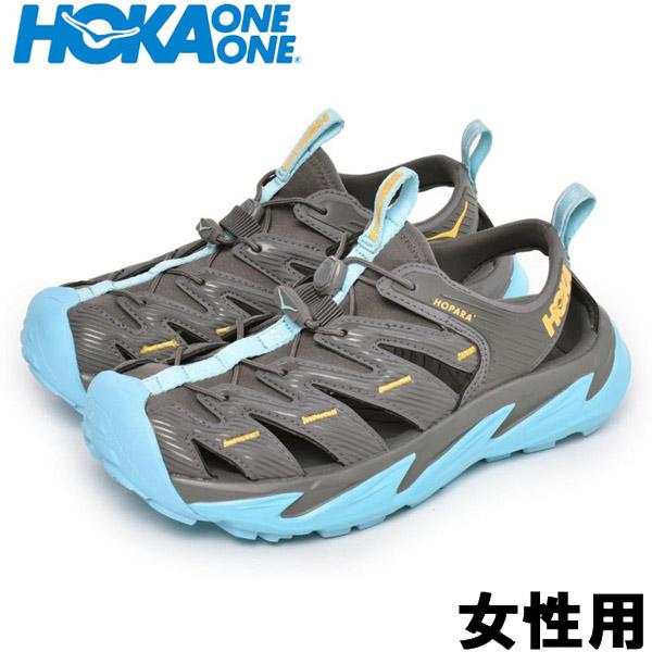 ホカオネオネ W ホパラ 女性用 HOKA ONE ONE W HOPARA 1106535 レディース スポーツサンダル ダークグレイxサンド (01-12997001)