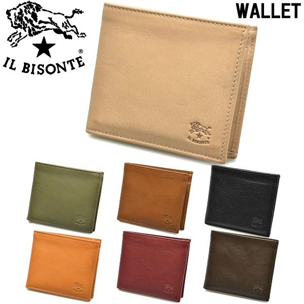 イルビゾンテ 二つ折り財布 男性用兼女性用 IL BISONTE M WALLET C0487 メンズ レディース ウォレット (6360-0017)