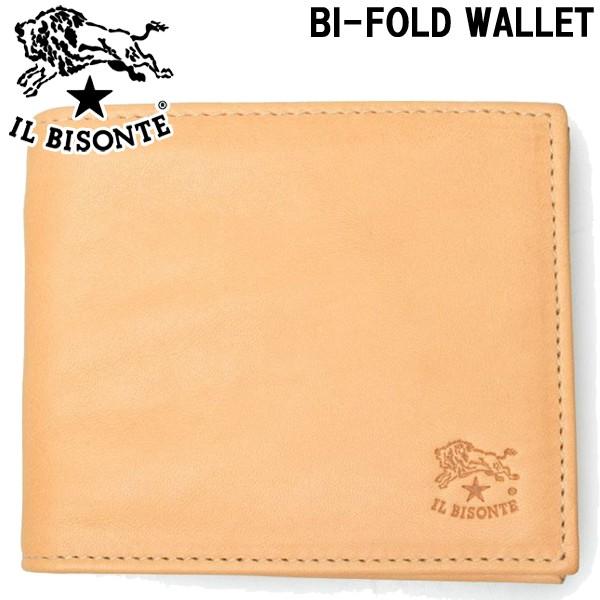 イルビゾンテ BI フォールド ウォレット 財布 IL BISONTE BI-FOLD WALLET C0931 メンズ レディース 男性用兼女性用 ナチュラル(ヌメ) (01-63600000)