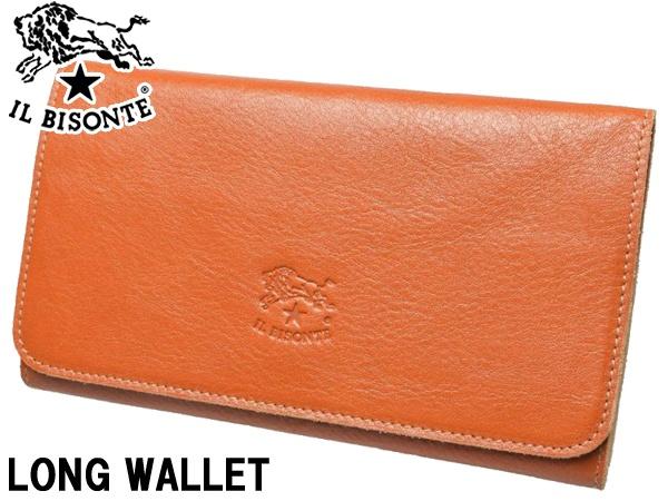 イルビゾンテ ロングウォレット 男性用兼女性用 IL BISONTE FLAP LEATHER LONG WALLET C0501 メンズ レディース 財布 キャラメル (01-63600016)
