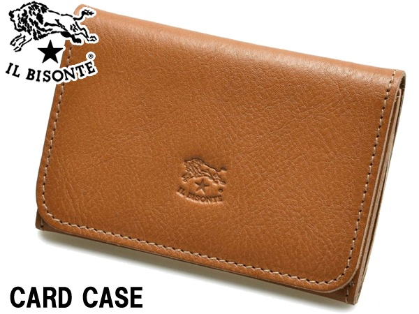 イルビゾンテ カードケース 男性用兼女性用 IL BISONTE CARD CASE C0470 メンズ レディース カードホルダー キャラメル (01-63600152)