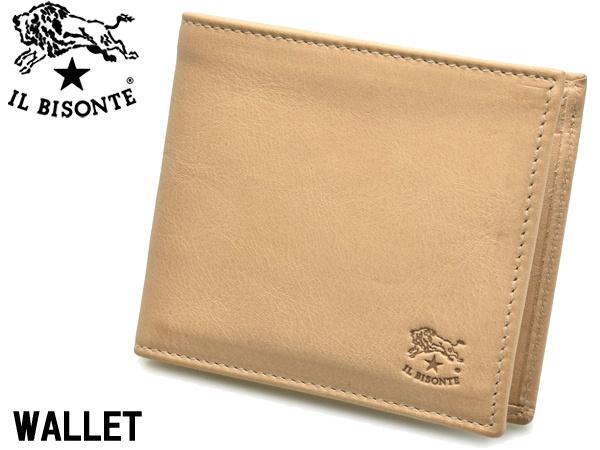 イルビゾンテ 二つ折り財布 男性用兼女性用 IL BISONTE M WALLET C0487 メンズ レディース ウォレット ナチュラル(ヌメ) (01-63600161)