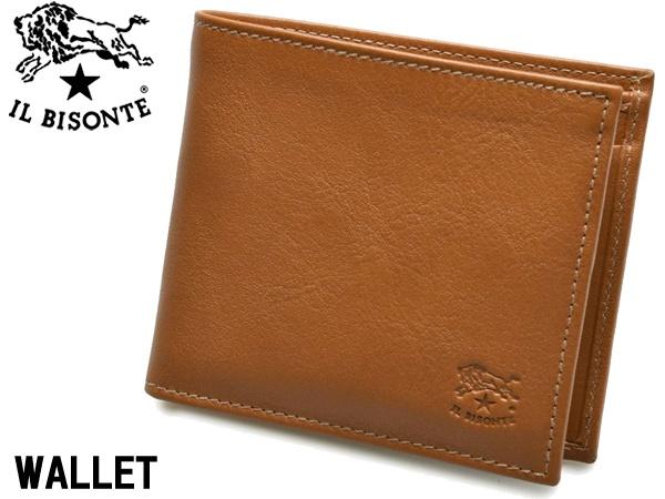 イルビゾンテ 二つ折り財布 男性用兼女性用 IL BISONTE M WALLET C0487 メンズ レディース ウォレット キャラメル (01-63600162)
