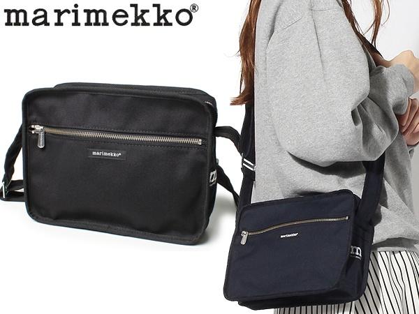 マリメッコ シティ ショルダーバッグ 女性用 MARIMEKKO CITY BAG レディース 鞄 ブラック (01-74036000)