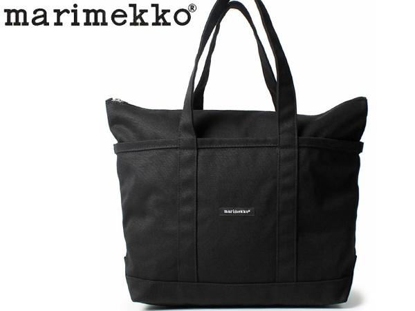 マリメッコ ウウシ ミニ マツクリ トートバッグ 女性用 MARIMEKKO UUSI MINI MATKURI レディース 鞄 ブラック (01-74036010)
