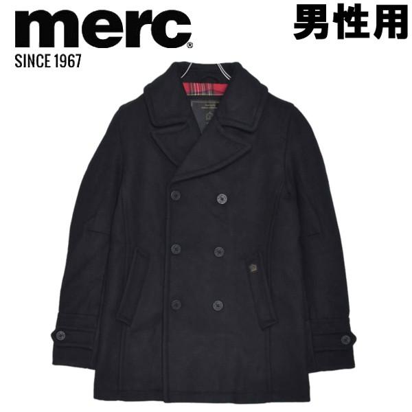 メルクロンドン ドイル ウール ピーコート 男性用 MERC DOYLE WOOL PEACOAT 1115205 メンズ ジャケット ブラック (01-23330135)