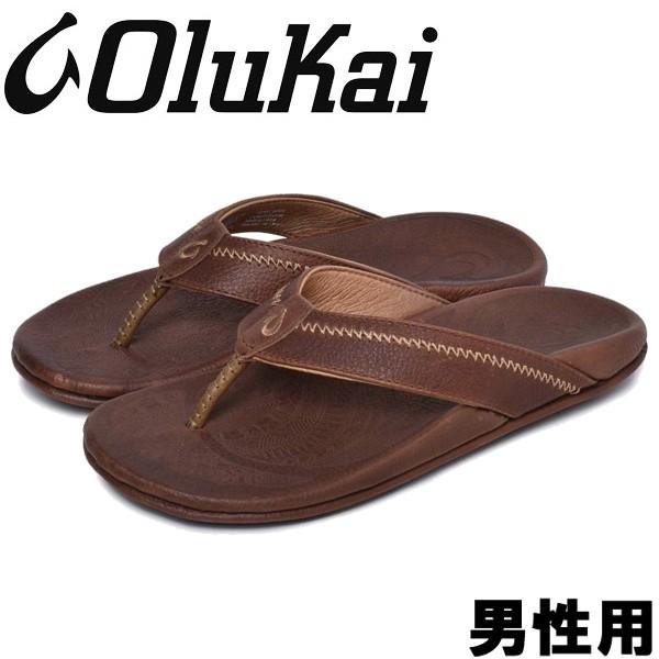 オルカイ HIAPO 男性用 OLUKAI HIAPO 10101 メンズ サンダル チークxコア (01-13960203)