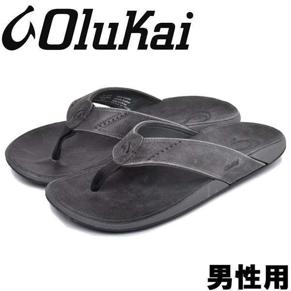 オルカイ ヌイ 男性用 OLUKAI NUI 10239 メンズ サンダル ラバロックxラバロック (01-13960222)