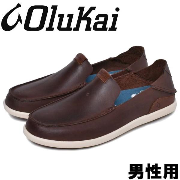 オルカイ NALUKAI SLIP-OV 男性用 OLUKAI NALUKAI SLIP-OV 10379 メンズ スリッポン コナコーヒーxタパ (01-13964141)