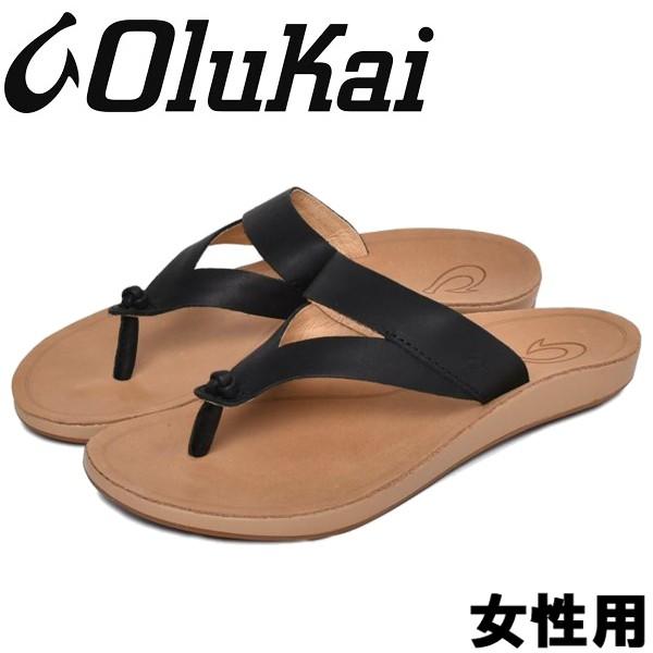 オルカイ KAEKAE KO'O 女性用 OLUKAI KAEKAE KO'O 20409 レディース サンダル ブラックxゴールデンサンド (01-13965360)
