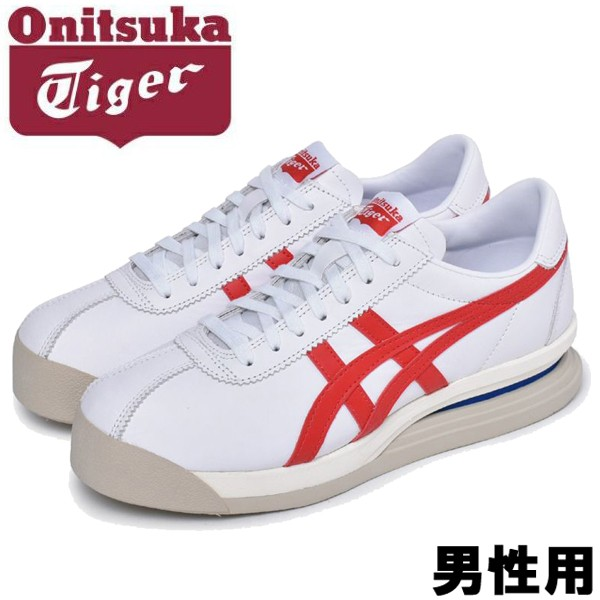 オニツカタイガー タイガー コルセア EX 男性用 ONITSUKA TIGER TIGER CORSAIR EX 1183A561 メンズ スニーカー ホワイトxクラシックレッド (01-11170971)