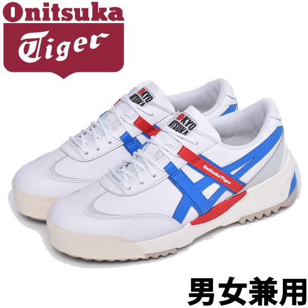 オニツカタイガー デリゲイションEX 男性用 ONITSUKA TIGER DELEGATION EX 1183A559 メンズ スニーカー ホワイトxブルー (01-11171101)