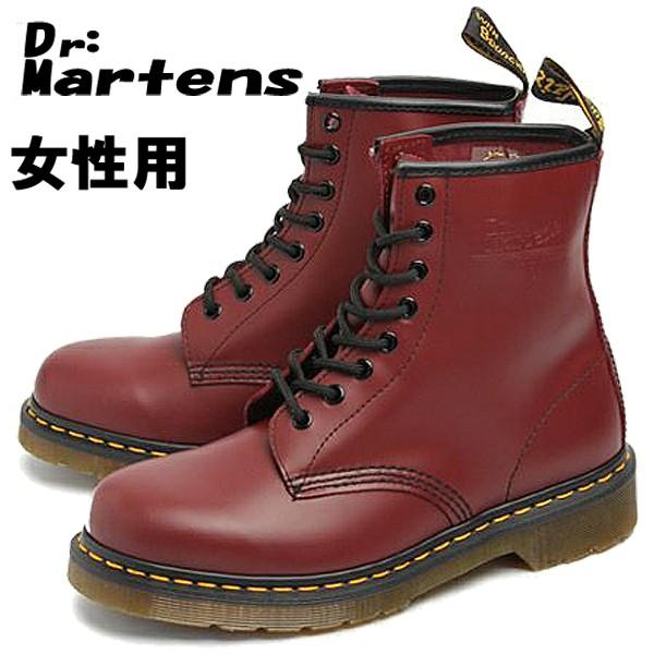 訳あり品 ドクターマーチン 8ホール ブーツ 24.0cm UK5.0 チェリーレッド R11821600 女性用 DR.MARTENS 8HOLE BOOTS 1460 W (dm294)